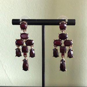 Crimson Chandelier Earrings